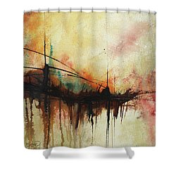 Abstract Painting Contemporary Art Shower Curtain