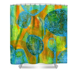 Abstract Painting No. 1 Shower Curtain by David Gordon