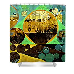 Shower Curtain featuring the digital art Abstract Painting - Ocean Green by Vitaliy Gladkiy