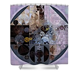 Shower Curtain featuring the digital art Abstract Painting - Pastel Purple by Vitaliy Gladkiy