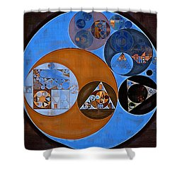 Abstract Painting - Rock Blue Shower Curtain
