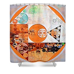 Abstract Painting - Silver Shower Curtain