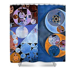 Abstract Painting - St Tropaz Shower Curtain