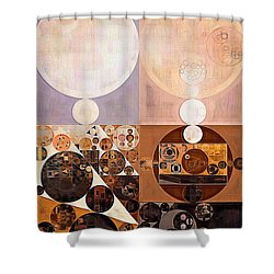 Abstract Painting - Zinnwaldite Shower Curtain