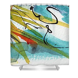Abstract Panorama Intuitive Art Shower Curtain