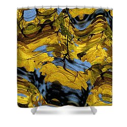 Abstract Pattern 4 Shower Curtain by Jean Bernard Roussilhe