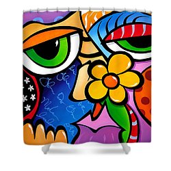 Abstract Pop Art Original Painting Scratch N Sniff By Fidostudio Shower Curtain