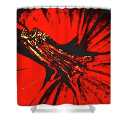 Abstract Pumpkin Stem Shower Curtain