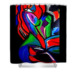 Abstract  Rain Bow Girl Shower Curtain