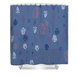 Abstract Rain On Blue Shower Curtain