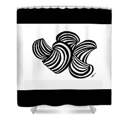 Abstract Rd122 Shower Curtain by Susan Dimitrakopoulos