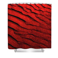 Abstract Red Sand- 2 Shower Curtain