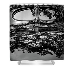 Abstract Reflection Bw Sq II - Vehicle Shower Curtain