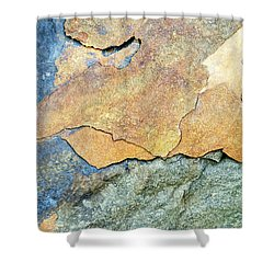 Shower Curtain featuring the photograph Abstract Rock by Christina Rollo