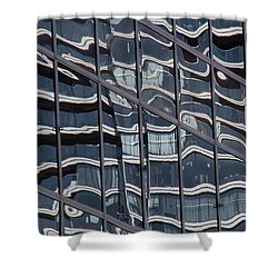 Abstract Rotterdam Shower Curtain