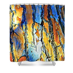 Abstract Saturated Tree Bark Shower Curtain