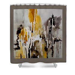 Abstract Scene Shower Curtain