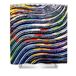 Abstract Series 0615c1 Shower Curtain