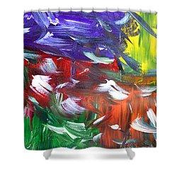 Abstract Series E1015ap Shower Curtain
