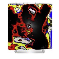 Abstract Shell Creature Shower Curtain by Gina O'Brien