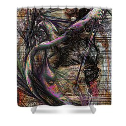 Abstract Sketch 1334 Shower Curtain