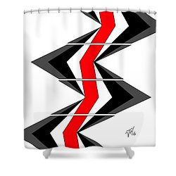 Abstract Stairs Shower Curtain by John Wills
