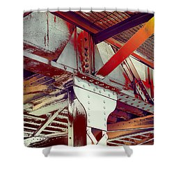 Shower Curtain featuring the photograph Grunge Steel Beam by Robert G Kernodle