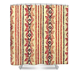 Shower Curtain featuring the mixed media Abstract Stripes Pattern by Lita Kelley