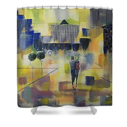 Abstract Stroll Shower Curtain