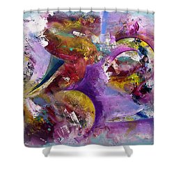 Abstract Sun, Moon And Stars Collide Shower Curtain