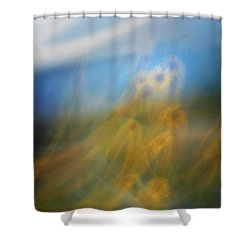 Shower Curtain featuring the photograph Abstract Sunflowers by Marilyn Hunt