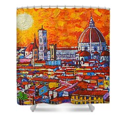 Abstract Sunset Over Duomo In Florence Italy Shower Curtain