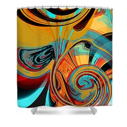 Abstract Swirls Shower Curtain by Jessica Wright