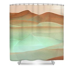 Abstract Terracotta Landscape Shower Curtain