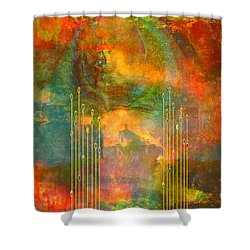 Abstract The World As It Is  Shower Curtain by Sherri's Of Palm Springs