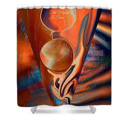 Abstract This Moment In Time Shower Curtain