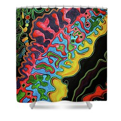 Shower Curtain featuring the painting Abstract Thought by Jolanta Anna Karolska
