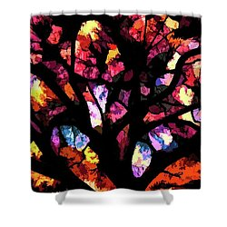 Abstract Tree 732 Shower Curtain