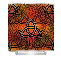 Shower Curtain featuring the digital art Abstract - Trinity by Glenn McCarthy Art and Photography