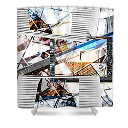 Abstract Triptych Shower Curtain