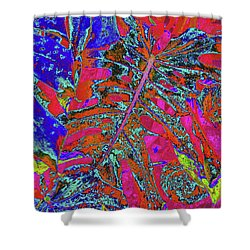 Abstract Tropical - Bold Magenta Shower Curtain