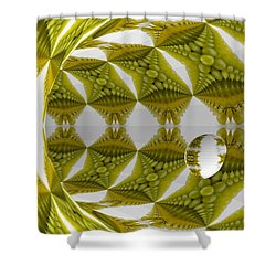 Abstract Tunnel Of Yellow Grapes  Shower Curtain