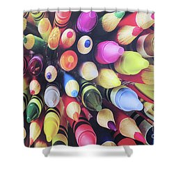 Abstract Two Shower Curtain