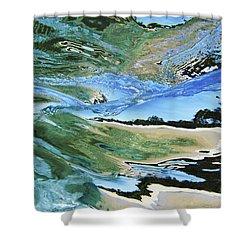 Abstract Underwater 4 Shower Curtain by Vince Cavataio - Printscapes