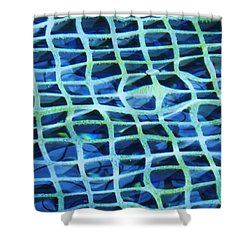 Abstract Underwater Shower Curtain by Eric  Schiabor
