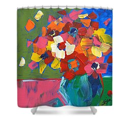 Abstract Vase Shower Curtain
