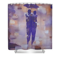 Abstract Walk In The Rain Shower Curtain