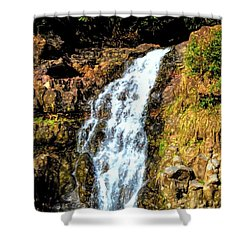 Abstract Waterfall 90 Shower Curtain