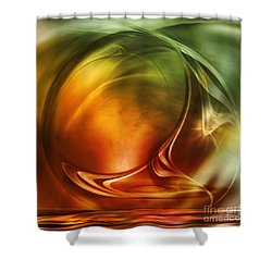 Abstract Whiskey Shower Curtain