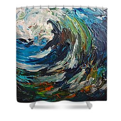 Abstract Wild Wave  Shower Curtain